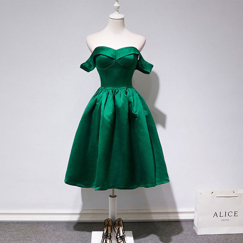 Cocktail Gown 2019 Fashion Designer Green Boat Neck Zipper Cocktail Dresses Sleeveless High Quality Vintage Party Dress LX694