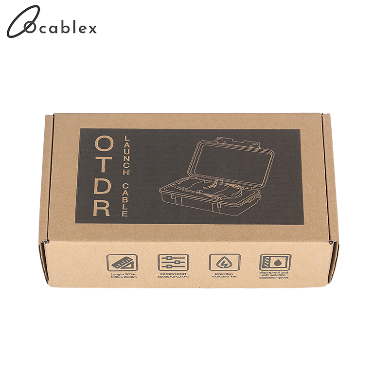Free Shipping 500M/1km/2km OTDR Launch Cable Box SM 1310/1550nm FC/LC/SC/ST UPC/APC OTDR Cable Box Dead Zone Eliminator