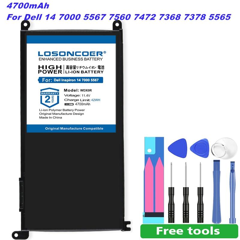 Wdx0r T2jx4 Wdxor Laptop Battery For Dell Inspiron 13 14 15 5378 5368 5568 3488 3580 5765 7378 3crh3 Pro 1508t 15mf P61f Fw8kr Laptop Batteries Aliexpress