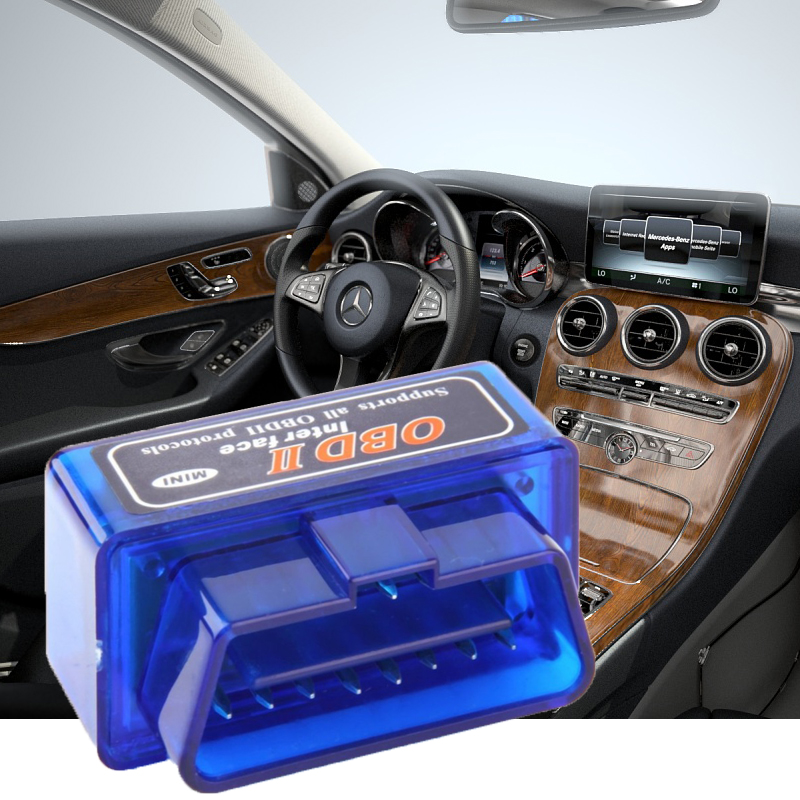 Blue ELM327 OBD2 II Mini Bluetooth Car Diagnostic Auto Diagnostic Interface Scanner Tool Portable ABS Tool dfdf(China)