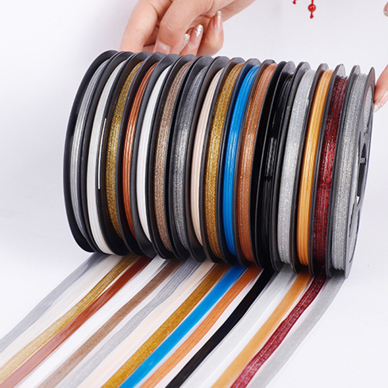 Tile Gap Tape Waterproof Mildew-proof Seam Decorative Stickers Room Floor Baseboard Wall Ceiling Skirting Line(glue) image