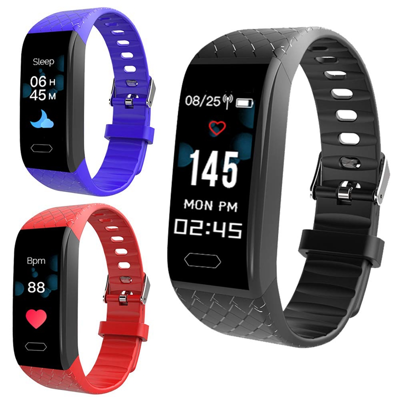 0 96 Inches Smart Color Screen Bluetooth 4 0 Smart Watch Nb 202 Ip67 Waterproof Heart Rate Monitor Smart Bracelet Pedometer Spo in Smart Wristbands from Consumer Electronics
