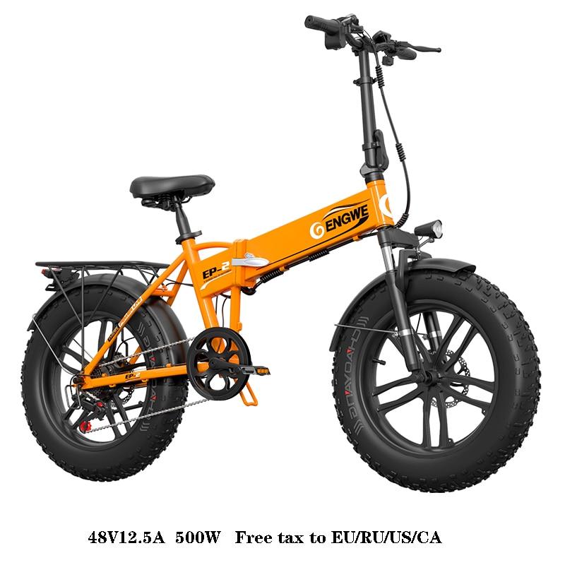 Bicicleta Eléctrica 48V12. 5A batería de litio 20*4,0 pulgadas bicicleta eléctrica plegable de aluminio 500W potente bicicleta de montaña nieve/bicicleta...