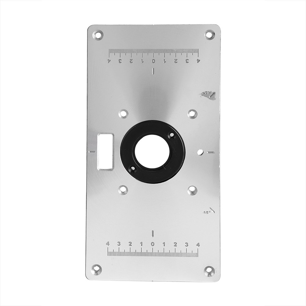 Aluminum Router Table Insert Plate With Rings And Screws For Woodworking Benches HUG-Deals