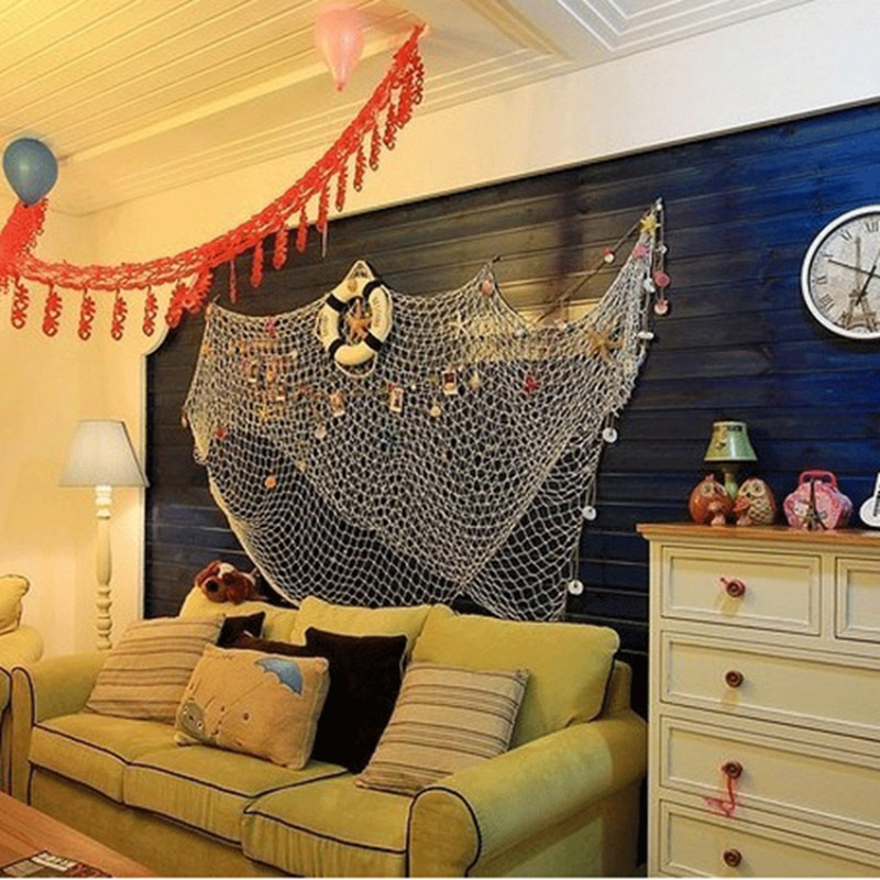 HOT-Home-The-Mediterranean-Sea-style-Wall-Stickers-big-fishing-net-decoration-home-decoration-wall-hangings