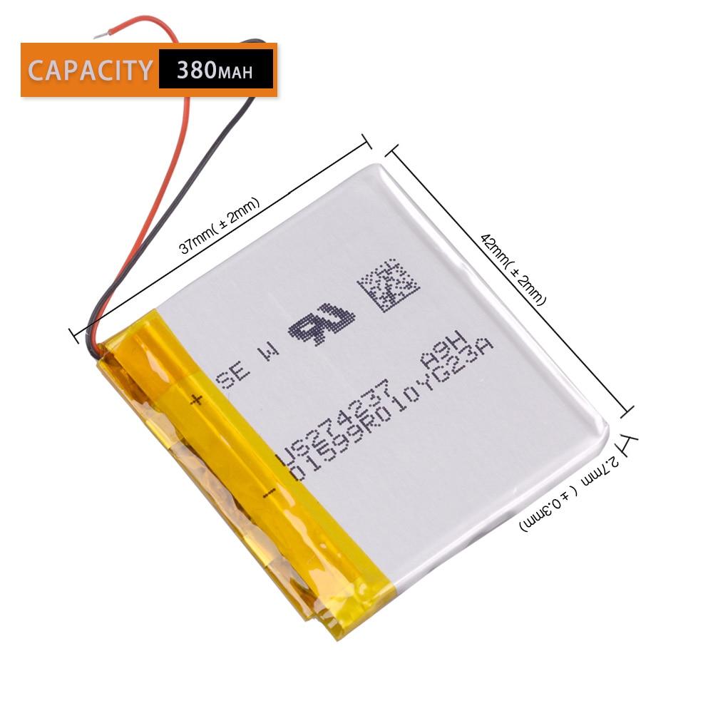 Original 3.7V 380mAh Li- Polymer Battery For SONY NWZ-E345 MWZ-E373 MWZ-E383 A864 A865 LIS1425HNPC 274237 SRS-BTV5
