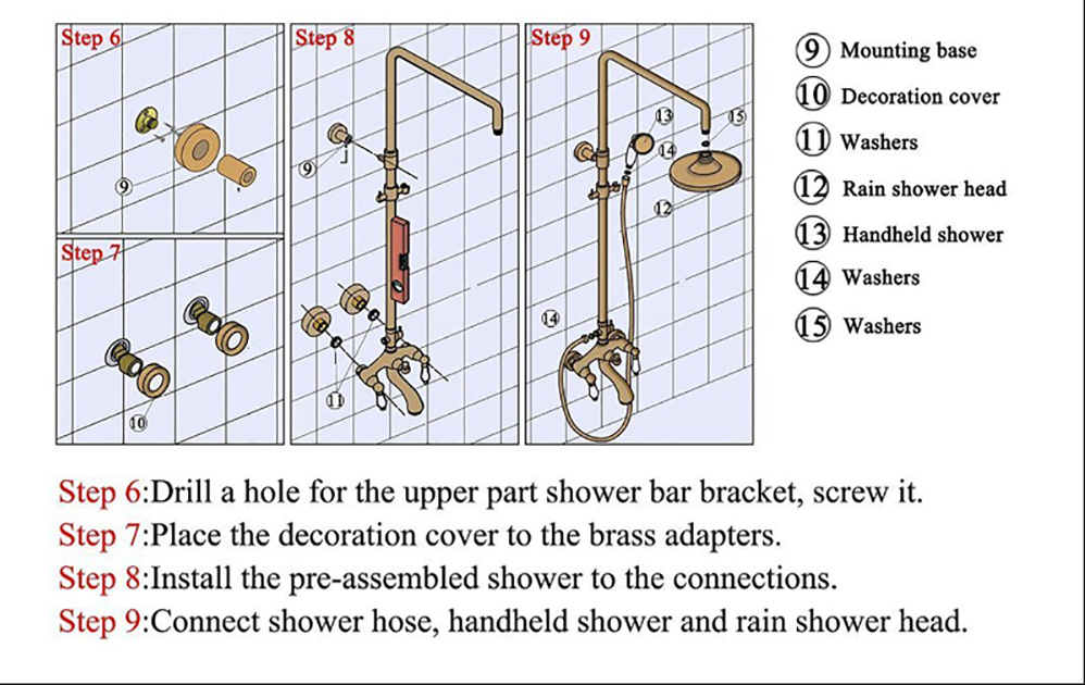 Black Bronze Digital Shower Set Fashion Black Bathtub Mixer Tap Hot Cold Bathroom Mixer Faucet Black Thermostatic Shower Set