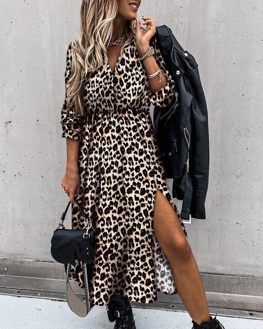 Elegant Boho-Style Maxi Dress With Leg Split 6
