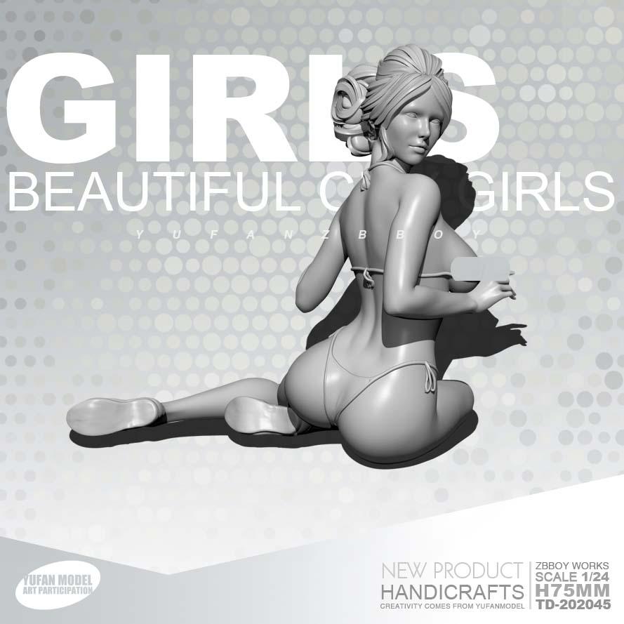 1/24 Resin Figure Kits  GIRLS Beach Girl Resin Soldier Self-assembled TD-202045