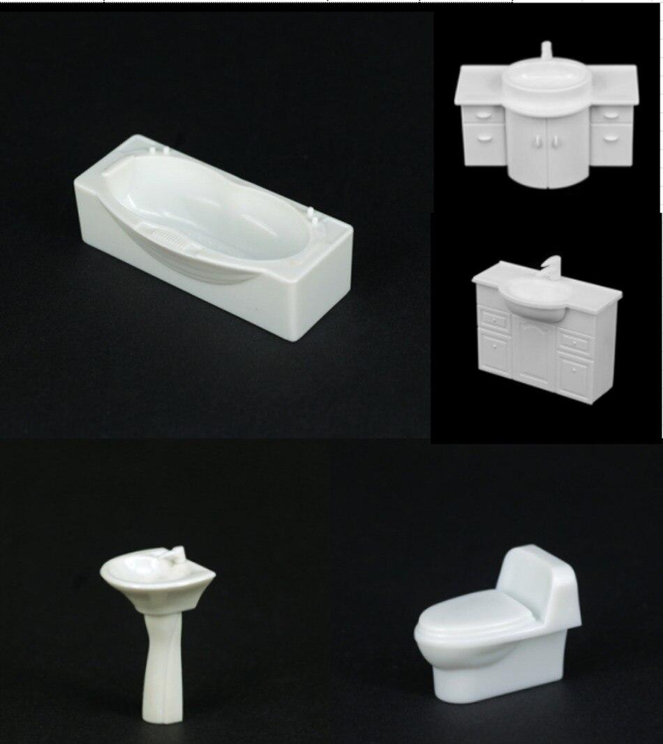 1:50 Escala modelo de banheiro modelo banheira pia do banheiro penteadeira mobiliário modelo de layout cena