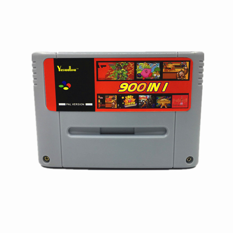 Super DIY Retro 900 in 1 Pro Game Cartridge For 16 Bit Game Console Card China Version