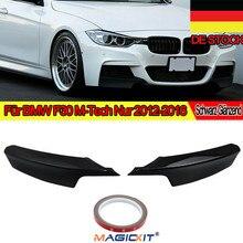MagicKit Sport-PERFORMANCE Front Flaps Splitter Black Gloss Lip For BMW F30 F31 M Bumper