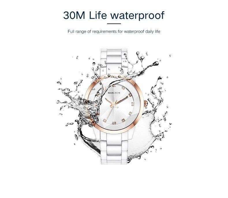 Relógio de quartzo japonês feminino relógio de