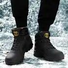 Uomini di Modo di Inverno Snow Boots Tenere in Caldo Stivali Peluche Stivali da Neve Scarpe da Lavoro Casual Stivali da Neve da Uomo di Formato 40 46 - 3