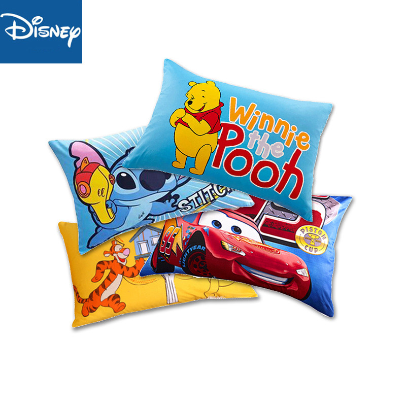 Disney 100% Baumwolle Kissen 1 stücke Cartoon Winnie The Pooh Mcqueen Stich Paar Kissen Abdeckung Dekorative Pillowshams 48x74cm