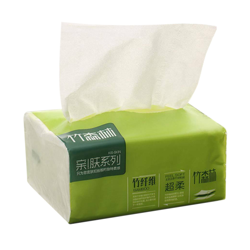 1 Pack Native Bamboo Pulp Natural Color Pumping Paper Household Napkin Soft Skin-Friendly Paper Towels High Quality Hot Sale