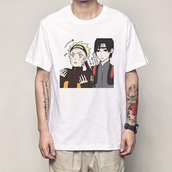 Naruto T koszula moda lato mężczyzna T koszula Naruto koszula klasyczna postać z anime obraz mężczyźni topy koszulki Harajuku Streetwear T Shirt 4