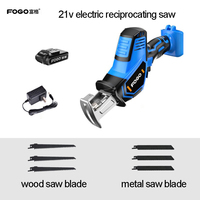 21V 12V lithium reciprocating saws saber saw portable cordless electric power tools jig saw with LED light and 6pcs Saw blade