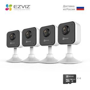 EZVIZ C1HC 4 шт. Камера видеонаблюдения Full HD 1080p Мини камера Новое поколение Беспроводная внутренняя IP камера Двусторонняя аудиосвязь Ночное вид...