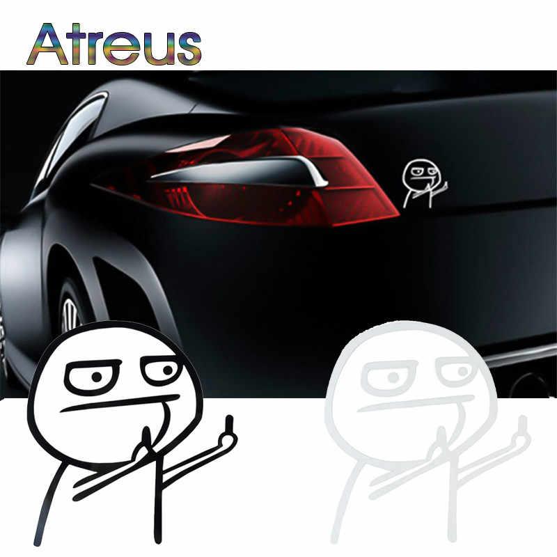מצחיק Cartoon אמצע אצבע רכב מדבקת אופנוע מדבקות עבור מאזדה 6 3 CX-5 CX3 bk פיג 'ו 308 206 307 407 207 208 508 3008 5008