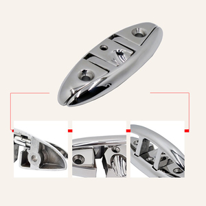 Image 5 - 5/6 inch Flip Up Cleat 316 Stainless Steel Marine Folding Pull up Cleat Deck Mount Line Rope Cleat for Ship Yacht Boat 155x52mm