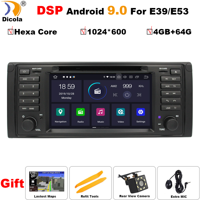 DSP 4G + 64G PX6 Android 9 PX6 Auto DVD GPS Für BMW E53 mit CANBUS 4G WIFI USB stereo navigation Multimedia auto radio stereo PC