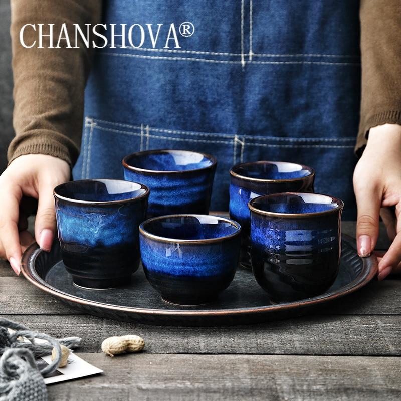 CHANSHOVA 170/200ml Chinese retro Kiln change High temperature Firing Ceramic Coffee cup tea cup Chinese porcelain H320|Teacups| - AliExpress