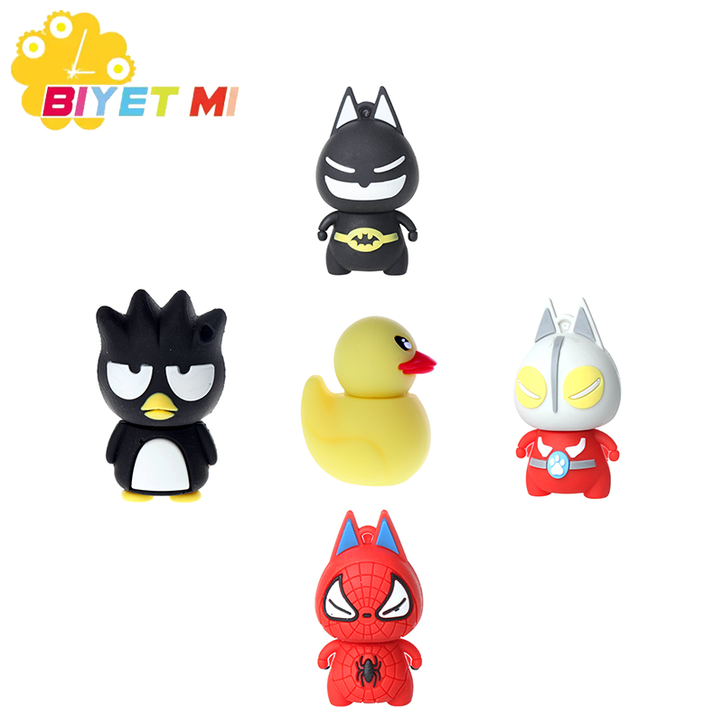 Genuine Cartoon Superhero USB Flash Drive 4GB 8GB 16GB 32GB U Disk Cute Thumb Memory Stick 64GB Pen Drive For PC Children Gift