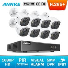 ANNKE 8CH FHD 2MP Video Security System 5MP Lite 5in1 DVR With 8X 1080P Outdoor Waterproof Bullet Camera PIR Detection CCTV Kit