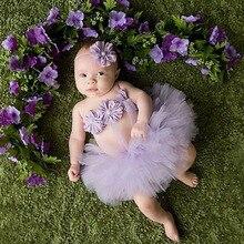 Headband-Set Tutu-Skirt Tulle Photography-Props Baby-Girl Newborn Flower Gift Top-Sale