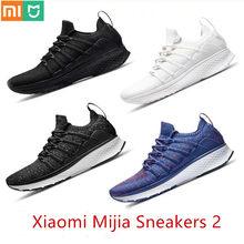 2020 Xiaomi Mijia Sport Sneaker Schuhe 2 Uni-moulding Techinique Fishbone Lock System Elastische Strick Vamp Schock-absorbieren sohle