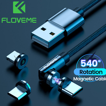 FLOVEME 540 obróć kabel magnetyczny dla iPhone 12 11 Pro X typ C kabel telefon ładowarka dla Xiaomi Samsung akcesoria do telefonów tanie i dobre opinie NONE LIGHTNING TYPE-C Micro Usb 2 4A CN (pochodzenie) Magnetyczne Micro Cable For Xiaomi Redmi 3s Pro Note 3 Pro Cabos