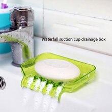 Цветная яркая креативная Коробка для мыла с присоской сливная