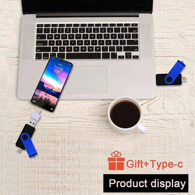 Custom Logo Usb 2.0 Flash Drive Pen Drive 4gb 8gb 16gb Pendrive 32 gb Usb Memory Stick 64gb OTG Metal For Computer/Android Phone 4