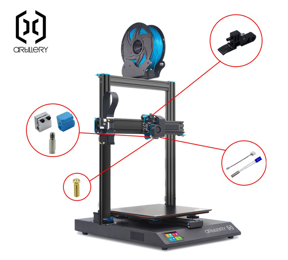 lowest price 2020  Extruder Sidewinder X1 And Genius Silicone Nozzle Kit Artillery
