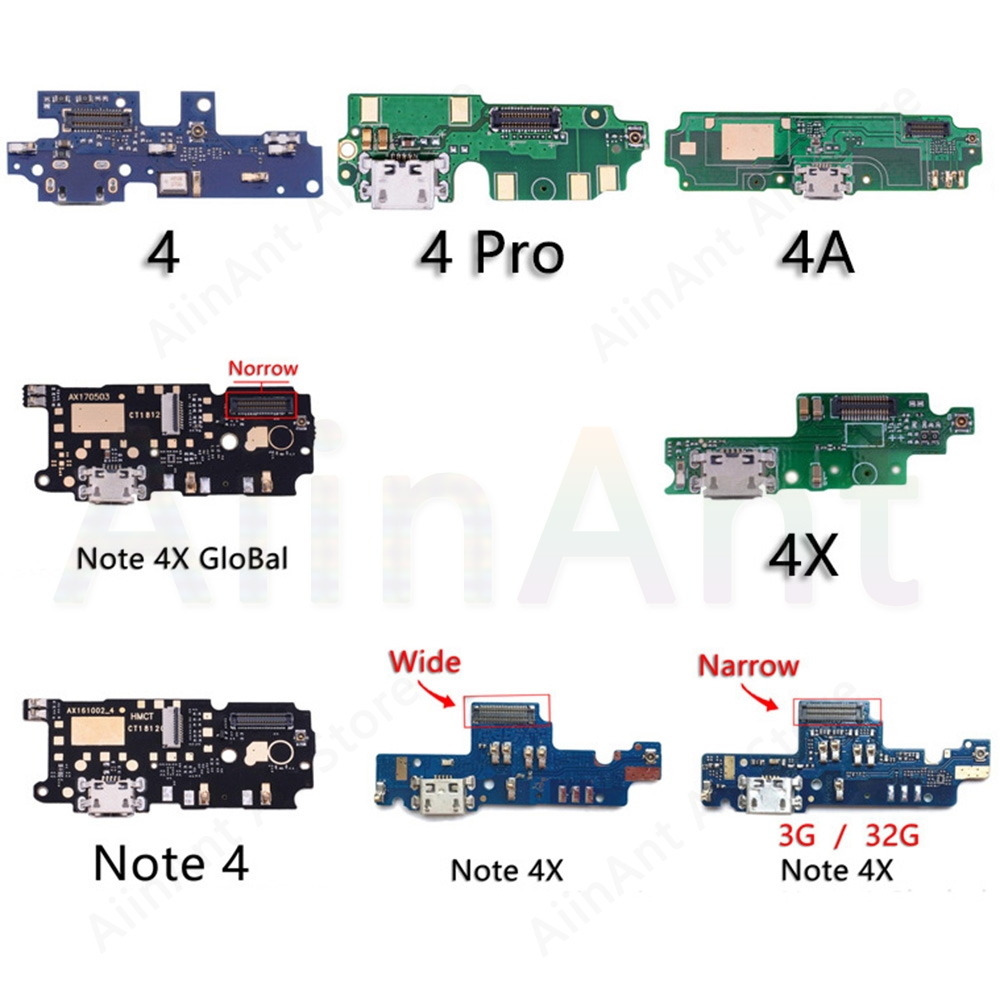 Original <font><b>USB</b></font> Date Charging Port Charger Dock Connector Flex Cable For <font><b>Xiaomi</b></font> <font><b>Redmi</b></font> Note <font><b>3</b></font> 3s 4 4x <font><b>Pro</b></font> Prime Replacement image