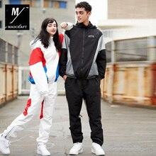 Новые зимние лыжные костюмы женские водонепроницаемые и теплые уличные сноубордические куртки Мужская лыжная одежда винтажный стиль