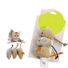Toy Plush False-Mouse Pet Training-Supply Funny Cat Kitten High-Simulate Hide Seek 3pcs