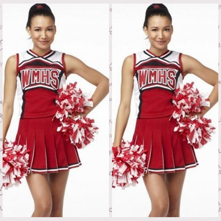 XXXXL Girl Cheerleader Costume Glee Style Cheerleading Cheerleader Cheerios Costume Fancy Dress Uniform High School Glee Club