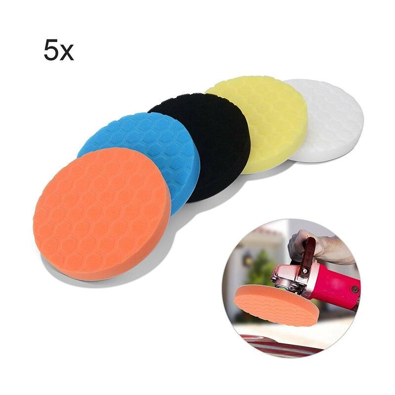 Полировочная губка мягкие моющиеся подушка для полировки автомобиля полировка воском губки буферный набор многоразовые 7 дюймов полировка...