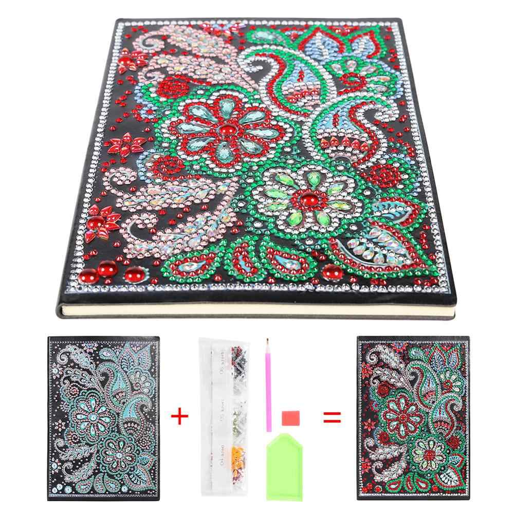 DIY Mandala Special Shaped Diamond Painting 50 Pages A5 Sketchbook Notebook Christmas Gift for Student Handmade Craft