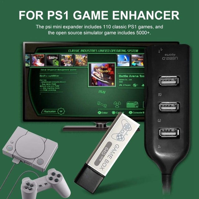AMS-USB Flash Drives Game Stick Open Source Simulator 64G Built-In 5000 Games for PS1 Mini Game Pack