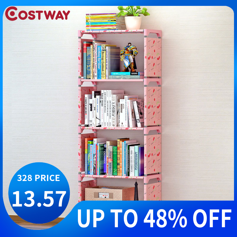 COSTWAY Bookshelf Storage Shelve For Books Children Book Rack Bookcase For Home Furniture Boekenkast Librero Estanteria Kitaplik