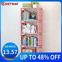 Estantería de almacenamiento COSTWAY para libros, estantería para libros para niños, estantería para muebles para el hogar, estantería para libros para niños, estantería para el hogar, estantería para libros
