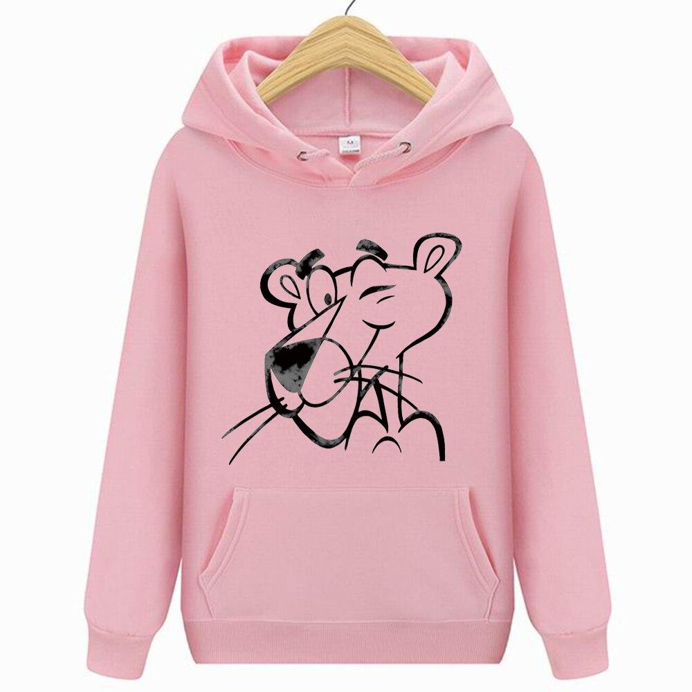 Pink Hoody Funny Hoodie Mouse Print Hoodies Women Fashion Hip Hop Streetwear Casual Fleece Sweatshirts Female  Long Sleeve Hoody