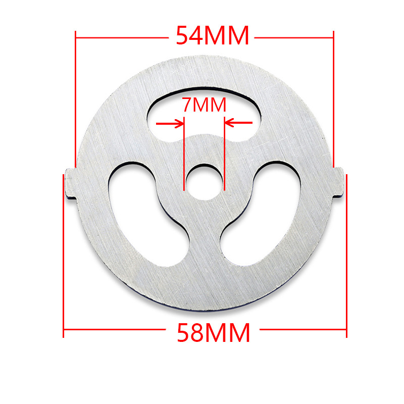 Meat Grinder Plate Net Knife Meat Grinder Parts Stainless Steel Meat Hole Plate For 55mm Diameter Meat Grinder