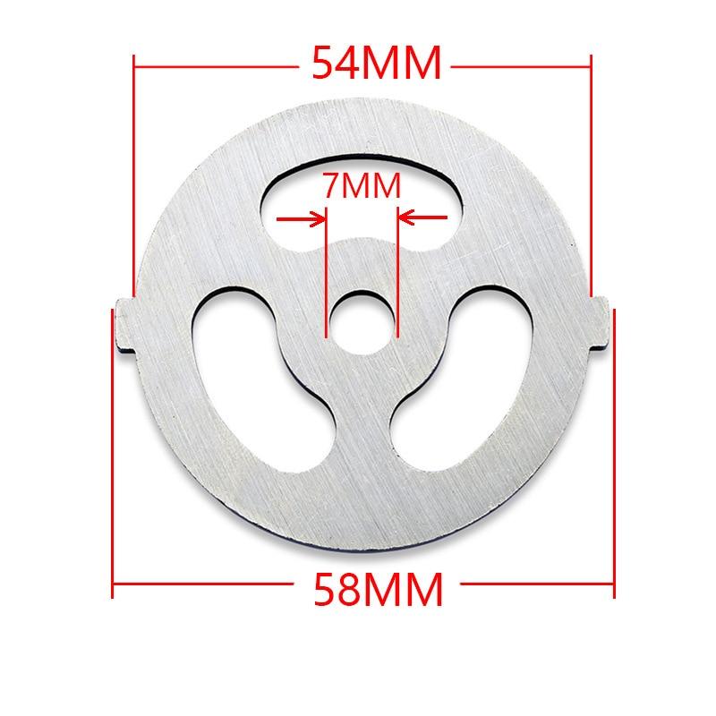 Meat Grinder Plate Net Knife Meat Grinder Parts Stainless Steel Meat Hole Plate For 55mm Diameter Meat Grinder