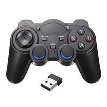 Akıllı telefon kablosuz kolu Gamepad Android telefon/PC bilgisayar/PS3/TV kutusu Joystick 2.4G Joypad oyun uzaktan ped