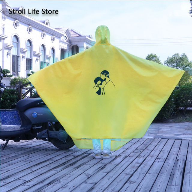 Yellow Raincoat Women Electric Bike Poncho Cute Korean Long Motorcycle Rain Coat Windbreaker Men Jacket Capa De Chuva Gift Ideas 2