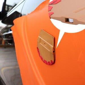 Image 2 - FOSHIO מגנטי מגב רכב מדבקה ויניל לעטוף מיקרופייבר הרגיש מגרד חלון גוון כלי מגנט סיבי פחמן סרט מוליך